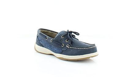 e82688865c9 Sperry Top Sider Women s Interpid Navy True Blue Cognac Boat Shoes 5M