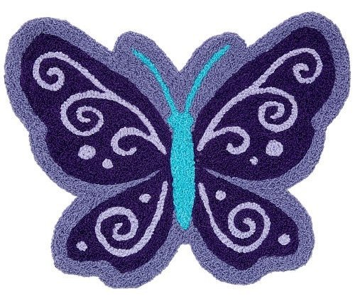 Amazon.com : NoJo Rug, Beautiful Butterfly (Discontinued By Manufacturer) :  Nursery Rugs : Baby