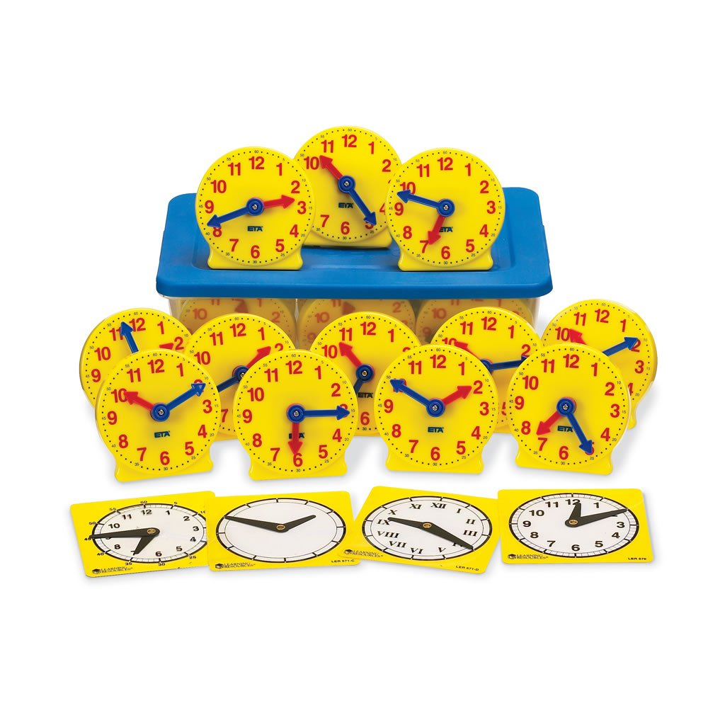 hand2mind Geared Clocks Classroom Kit (Set of 24) by hand2mind (Image #1)