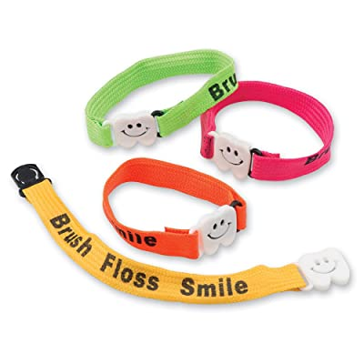 Brush Floss Smile Clip Bracelets - 72 per Pack: Toys & Games