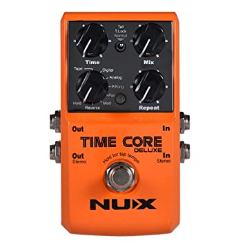 ammoon Efecto Pedal NUX TIME CORE DELUXE Electric Guitar Digital Delay con 7 Tipos de Retardo