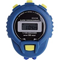 A-MAN TRADERS Digital Stopwatch Timer with Extra Large Display and Buttons, Water Resistant, Blue