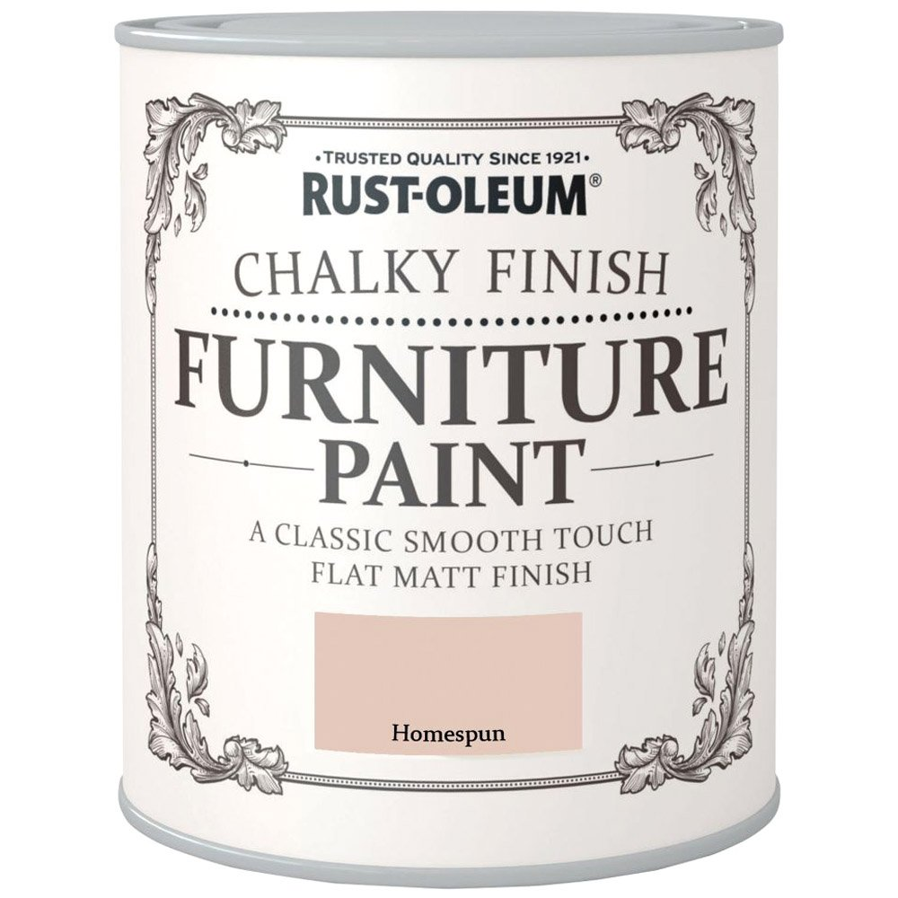 Rust-Oleum Chalky Finish Furniture Paint Homespun Matt 750ml