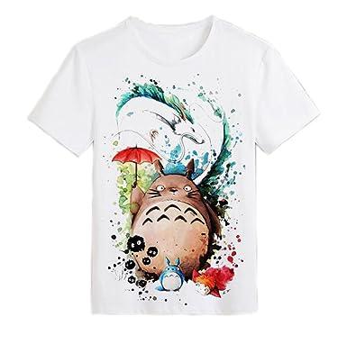 fcd41e12313 Amazon.com  JUNG KOOK Men Women Totoro Print Shirt Tee Cartoon Anime T-Shirt   Clothing