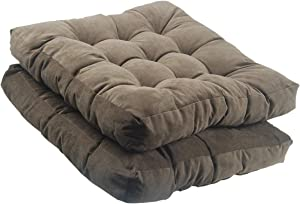 youta Solid Papasan Patio Seat Cushion Square Chair Pad Home Floor Cushion 22 Inch Set of 2 Throw Pillows Indoor/Outdoor Coffee