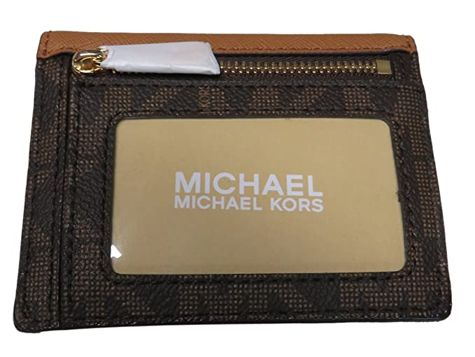 a52c26b1df0af Michael Kors Jet Set Travel Card Case Wallet Brown Acorn at Amazon Women s  Clothing store