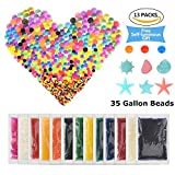 Leisure&More Value Pack Water Beads 24 oz, 650gram ,70000 Pieces, Gel Beads,Tactile Sensory Toys for Kids ,Orbeez Refill,DIY Gift Idea , Vase Filler ,Grow Plants ,Relaxing Squishy Beads Spa