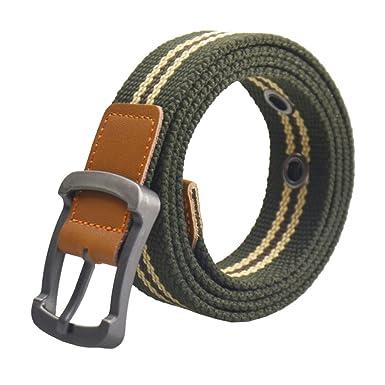 57306ba020c ITIEZY Outdoor Leisure Metal Pin Buckle Canvas Web Men Military Belts