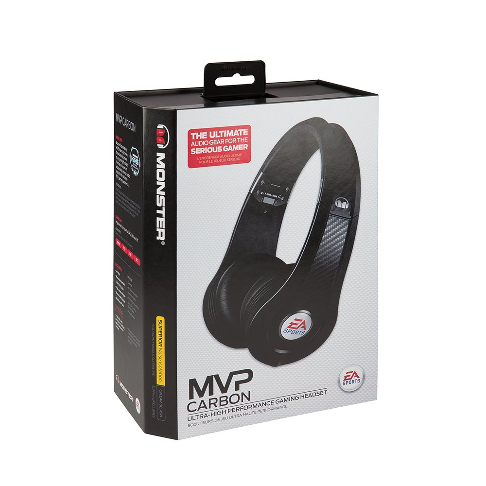 Amazon.com  Monster EA SPORTS MVP Carbon On-Ear Headphones (Black)  Home  Audio   Theater 09670d9ce9