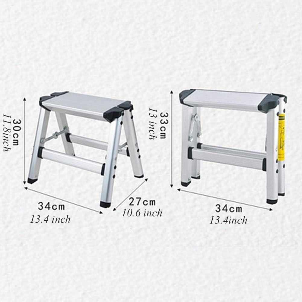 1 Passo o 2 Passi o 4 Passi Scegli 1 Ylmhe Scala Pieghevole Alluminio Leggero scaletta Sgabello con Pedale Antiscivolo e Wide Pedal 150kg // 330lbs capacit/à per Uso polivalente