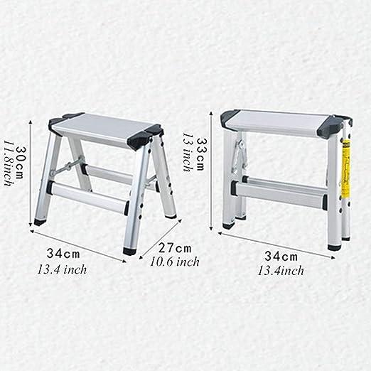 Ylmhe Escalera Plegable Aluminio Ligero Escalera de Tijera Taburete con Pedal Antideslizante y Pedal Ancho 150kg / 330lbs Capacidad para Uso multipropósito (1 Paso o 2 Pasos o 4 Pasos Elegir), 1: Amazon.es: Hogar