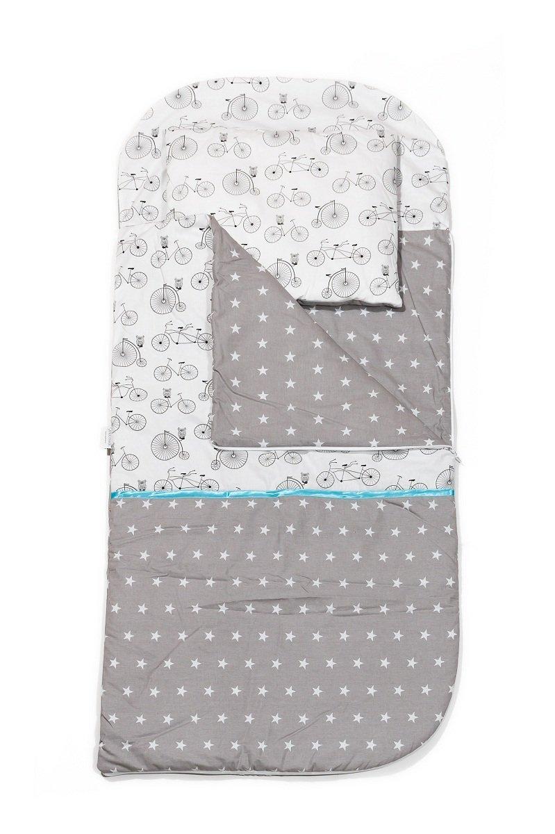 KempKids Set di Sacco a Pelo + Cuscino per Bambini in Età Prescolare Stuoia del Nap Sacchetto di Sonno Taglie: Sacco a Pelo 115 x 70cm Guanciale 35 x 70 cm Alberi Sango Trade