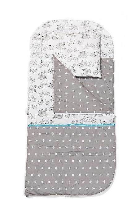 KempKids Conjunto de saco de dormir + almohada Nap Relleno Cama Niño en Edad Preescolar Relleno