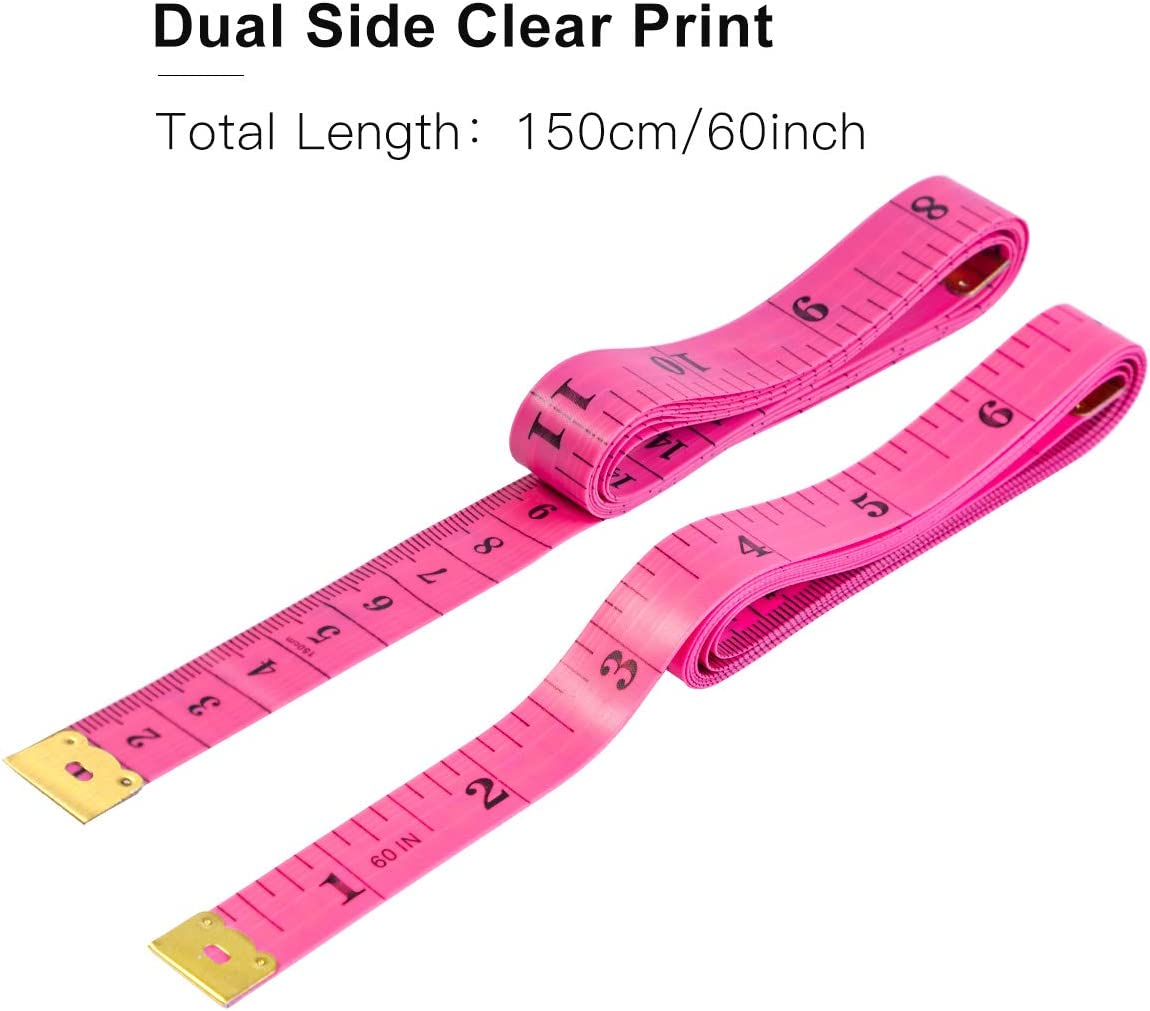 Measuring Tape 60 Inch Body Sewing Measurement for Weight Loss Medical Tailor Craft Soft Tape Measure 12 Pack