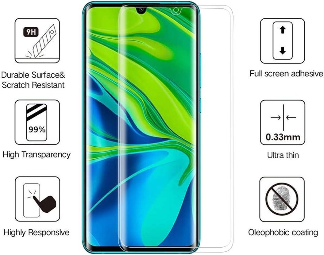 JIANGNIUS Screen Protector 25 PCS for Xiaomi CC9 Pro 3D Full Glue Curved Edge Full Screen Tempered Glass Film