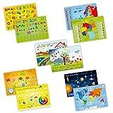 5er Set Tischset mit Lerneffekt - ABC, Deutschland, die Erde, Englisch,... - Platzset für Kinder