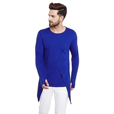 8e447e792384e Chill Winston Men s Cotton Blend Long Sleeve Cross Design Overlap T-Shirt  with Thumb Insert