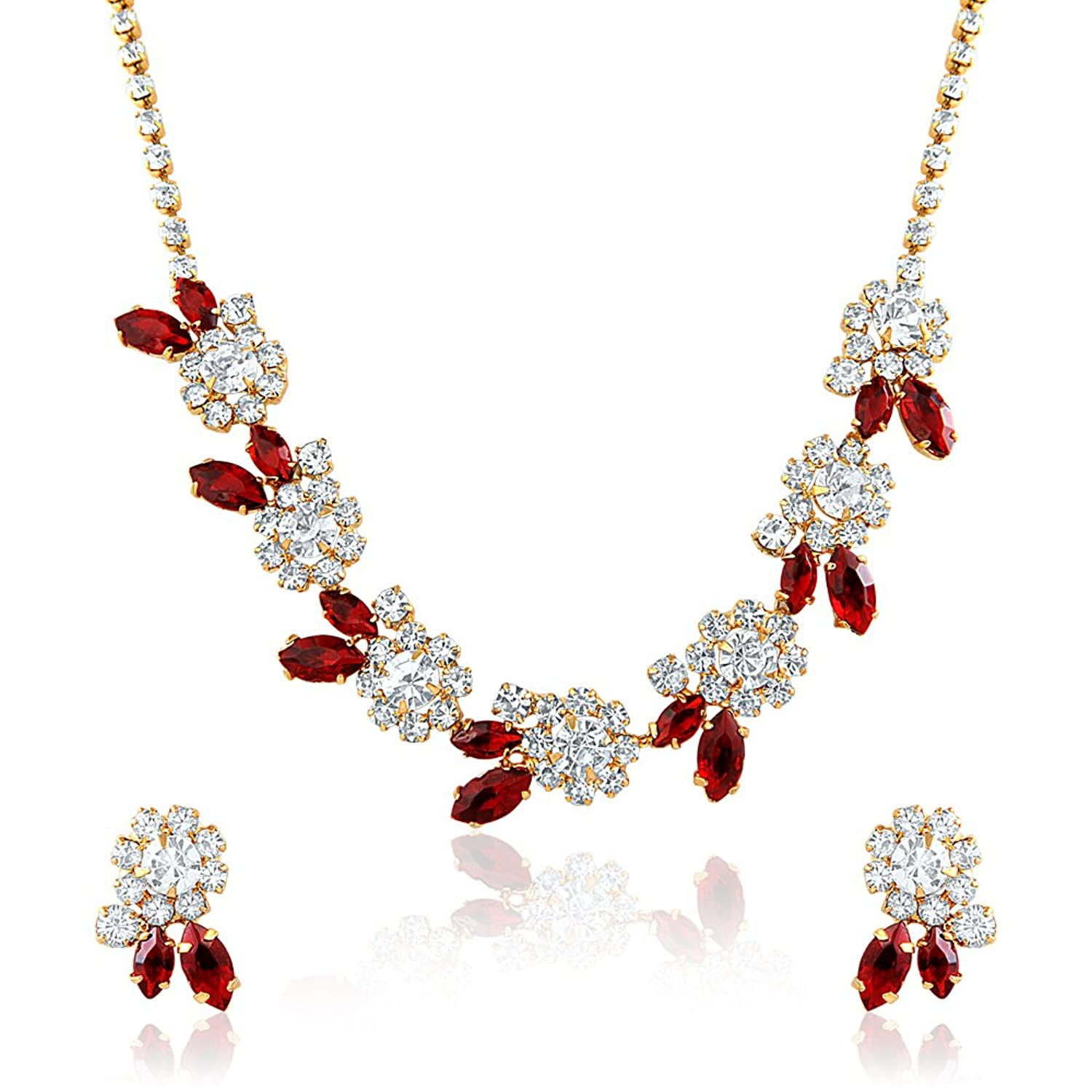 boutique opals necklace enchanted ct plated rhodium black ruby products round diamond red pendant