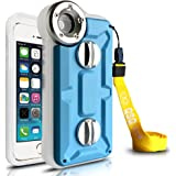 Iphone 5 / Iphone 5c / Iphone 5S Professional Diving Case,Waterproof/Shockproof/Dustproof/Snowproof Super case w/Straps for iphone 5 5C 5S in Ocean /Ford /Sea /Pool Shooting--Under water 1-100M Limited/Lifetime Warranty