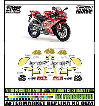 Kit Adesivi Decal Stickers Aprilia Rs 125 2007 Spains N1