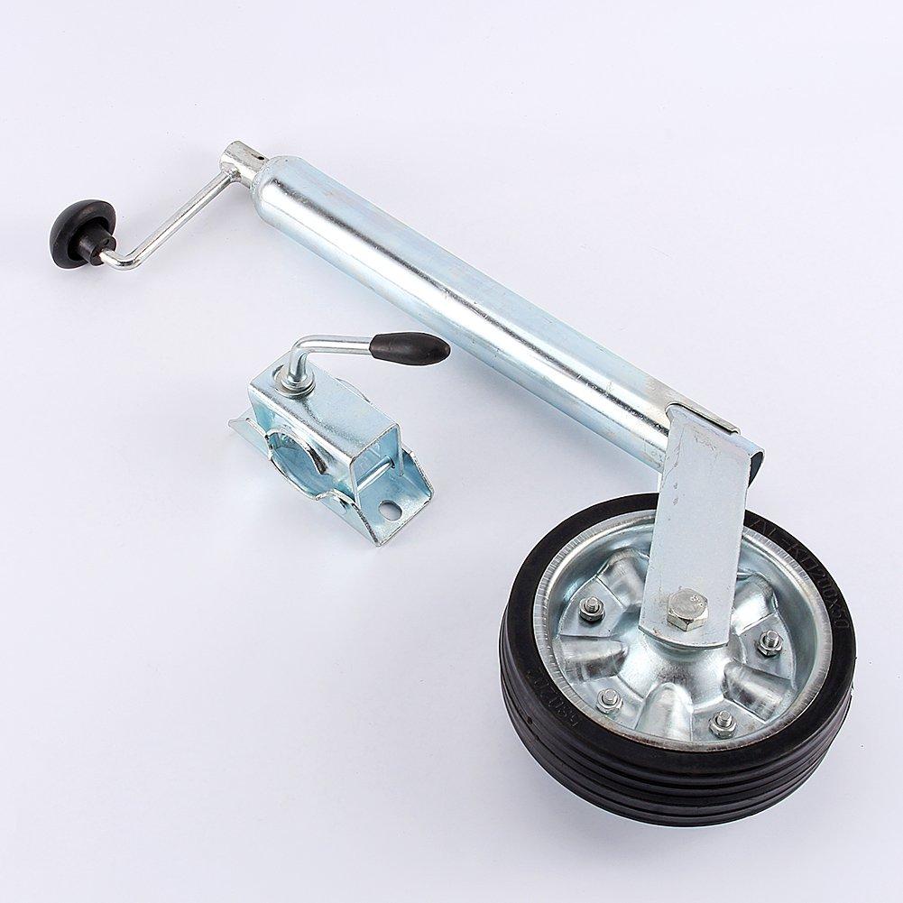 Weight Capacity 220.5 lbs Heavy Duty Jockey Wheel With Clamp for Car Trailer Caravan 35 mm Greensen Jockey Wheel