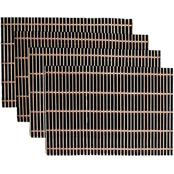 Benson Mills Caribbean Bamboo Placemat, Set of 4, Black