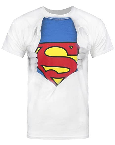 9496c1afb74 Amazon.com  Superman Ripped Chest Men's T-Shirt  Clothing