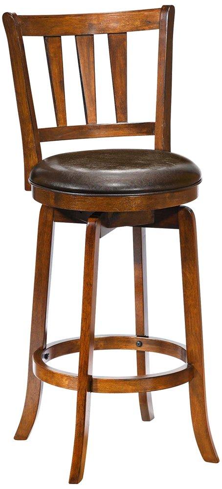 amazon com hillsdale presque isle swivel bar stool brown kitchen