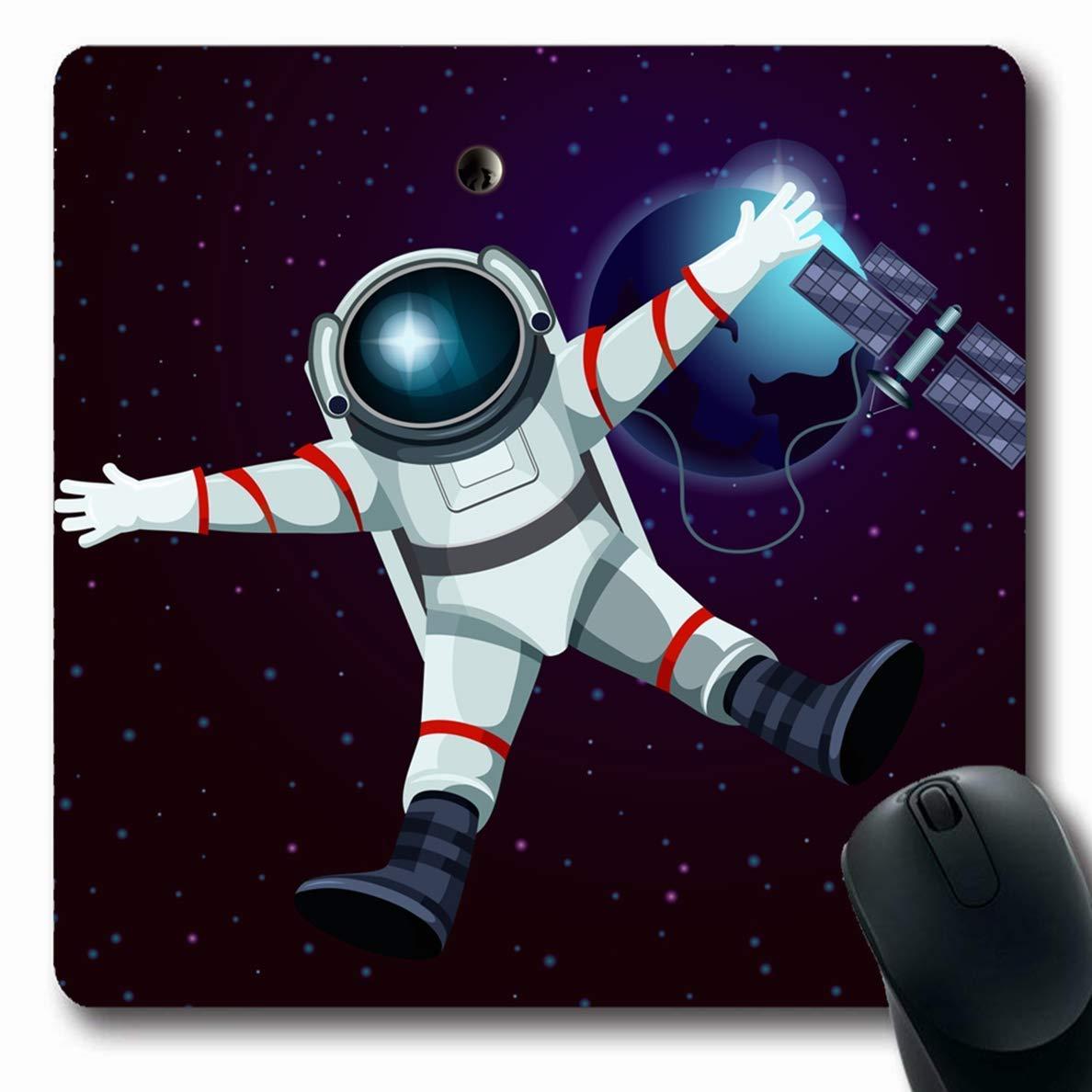 Luancrop Alfombrillas para computadoras Nave Espacial ...
