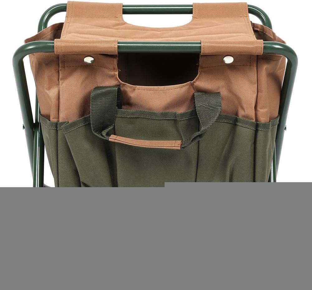Taburete para acampar, duradero, fácil de transportar, tela Oxford, hierro de alta calidad y material de tela Oxford 600D, silla plegable, barbacoa, jardín, patio para patio