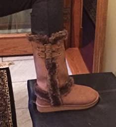 Amazon.com | Faux Fur Lined/Regular Mid-calf Boots with