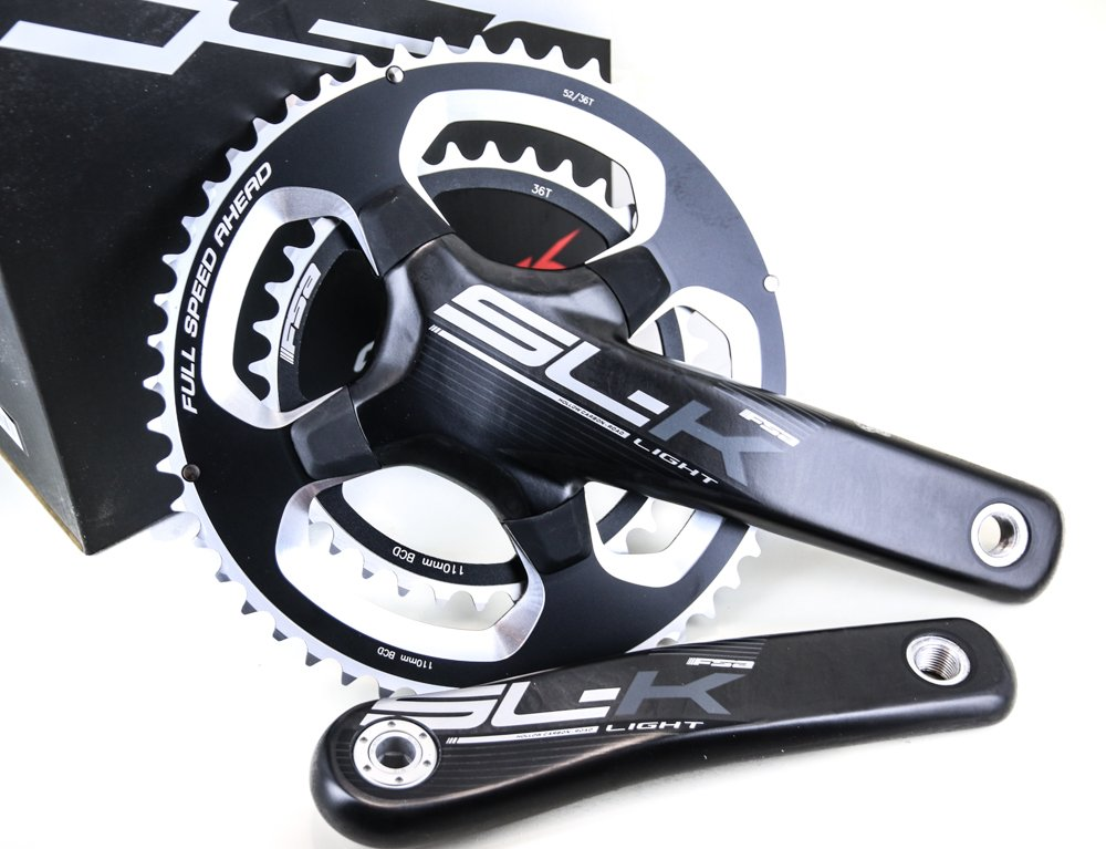 FSA SL-K Light BB30 / PF30 Road Tri Bike Crankset + BB 52/36T 172.5 N10/11s NEW by FSA (Image #1)