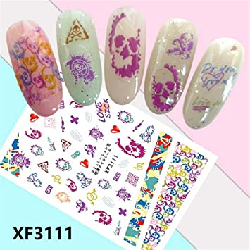 Amazon Com Nail Sticker Halloween 3d Nail Art Stickers Manicure