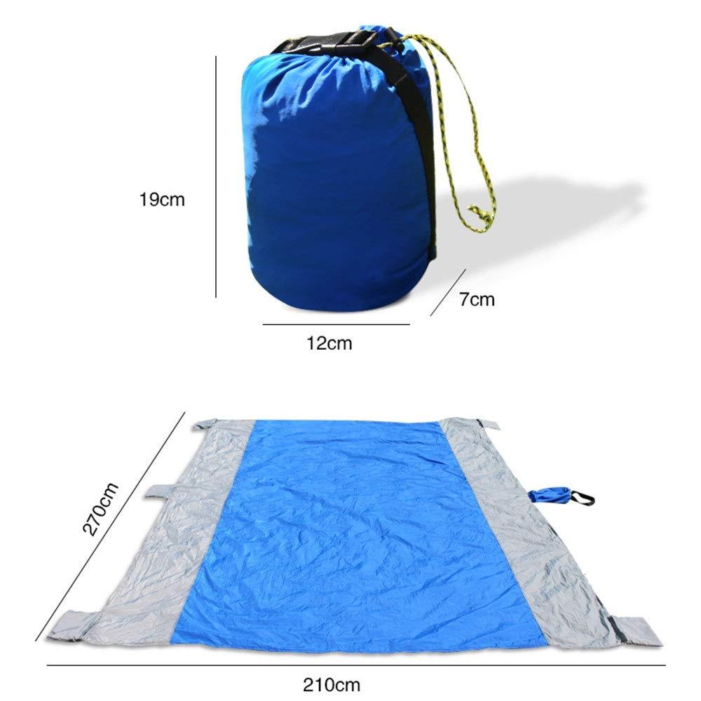 Picknickmatte Wasserdichte 250T Nylon Wasserdichte Tragbare Tasche Faltbare Sand Outdoor Beweis Stranddecke & Kompakte Sand Free Mat Schnell trocknend, leicht & haltbar Picknickdecke handliche Strandm B07Q97VG24   Authentische Garantie