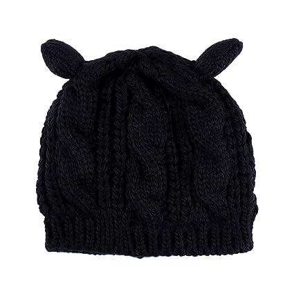 VORCOOL Gorro de Oreja de Gato de Punto Cute Winter Warm Beanie Gorras para Mujeres niñas