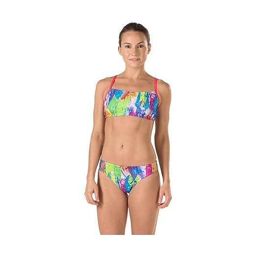 0ac3dc71744 Amazon.com : Speedo Women's Printed Swimsuit Set (2 Piece) : Clothing