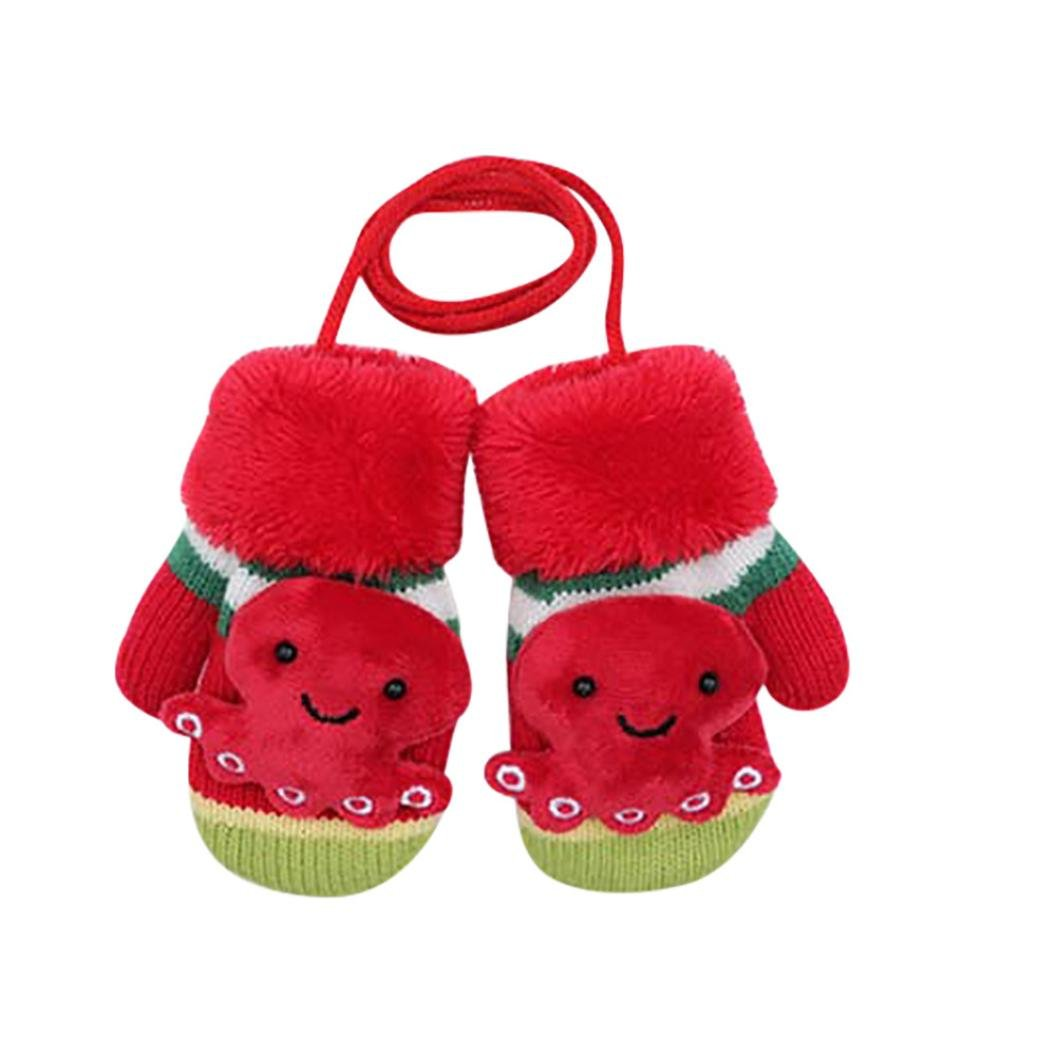FORESTIME Cute CartoonThicken Hot Infant Baby Girls Boys Of Winter Warm Gloves