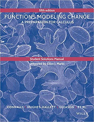 Student solutions manual to accompany functions modeling change student solutions manual to accompany functions modeling change 5th edition fandeluxe Image collections