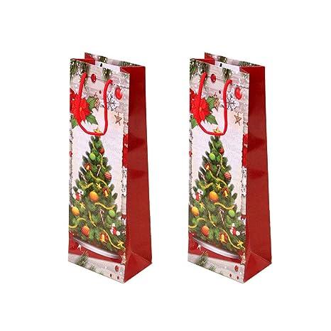 Unicoco Papel Kraft Bolsas de Vino de Navidad Regalo del ...