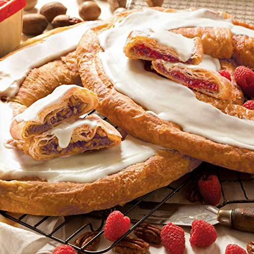 O & H Danish Kringles, Set of Two, Pecan and Raspberry flavors