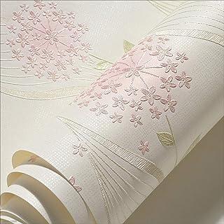 ZDYLL Moderna minimalista astratto curve Glitter non tessuto 3D carta da parati rotolo murale rivestimenti a strisce per camera da letto soggiorno TV sfondo crema (Colore : Bianco crema)