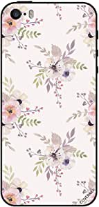 Case For iPhone SE Cream Color Flowers Pattern