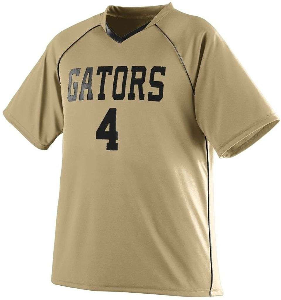 Augusta Sportswear Boys ' Striker Jersey B00F1AGXZA Small|Vegas Gold/Black Vegas Gold/Black Small