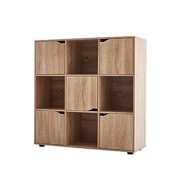 Amazonde Keinode Bücherregal 4 Würfel 2 Türen