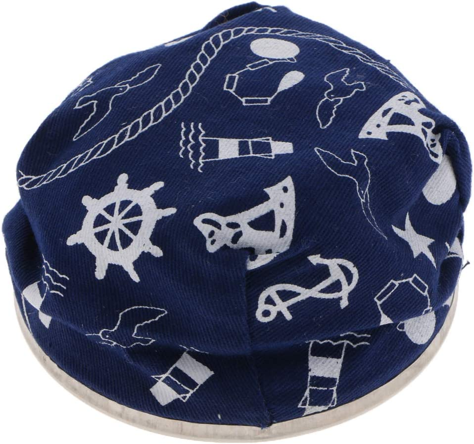 H HILABEE Ashtray Vintage Heavy Blue Glass Ash Trays Modern Marine Style