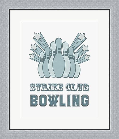 Amazon.com: Strike Club Bowling by Sports Mania Framed Art Print ...