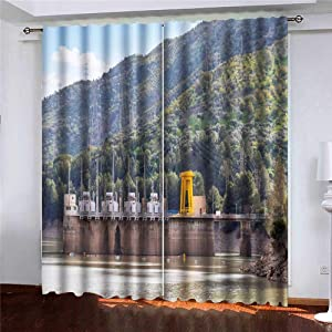 """Jesmacti Pair of Blackout Window Curtain Panels(Set of 2) Power Plant in Maintenance 52""""X63 Home Furnishings"""