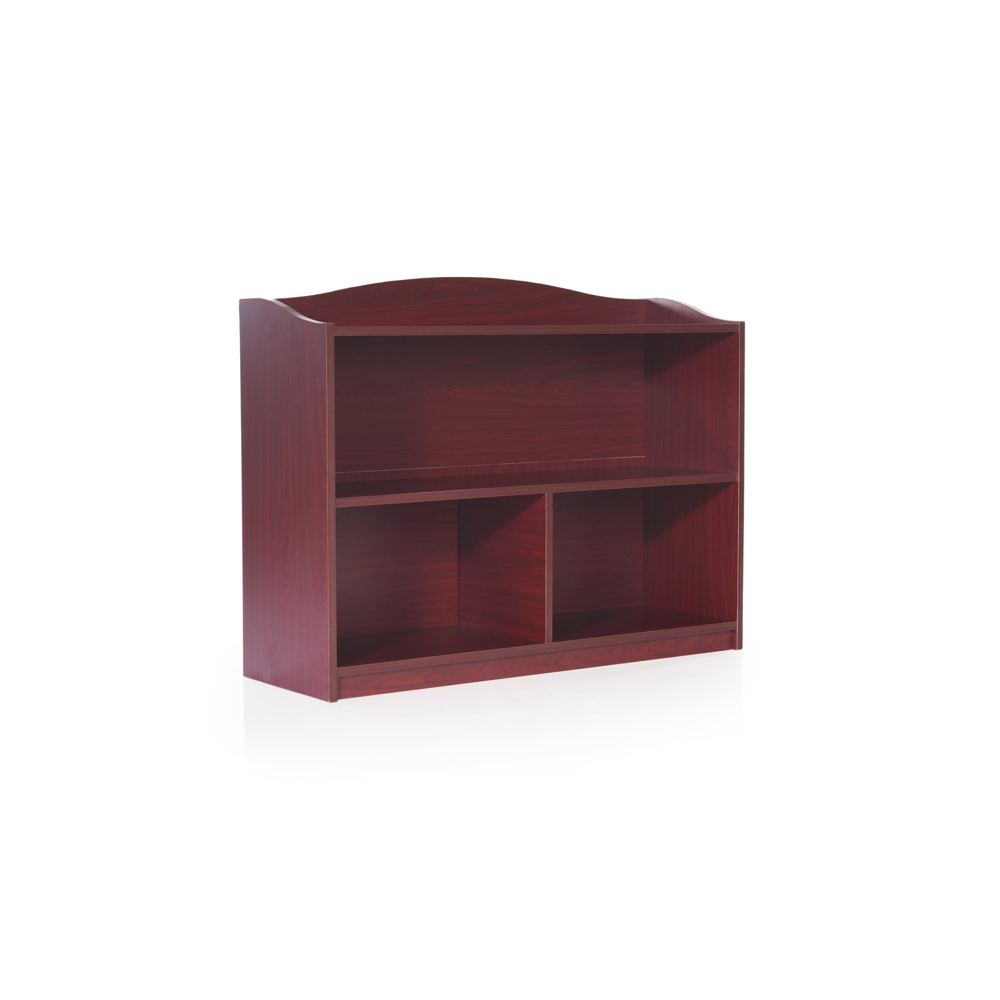 Guidecraft 3-Shelf Cherry Bookcase - Shelves, Home & Office Organizer Furniture, Book Display by Guidecraft (Image #2)