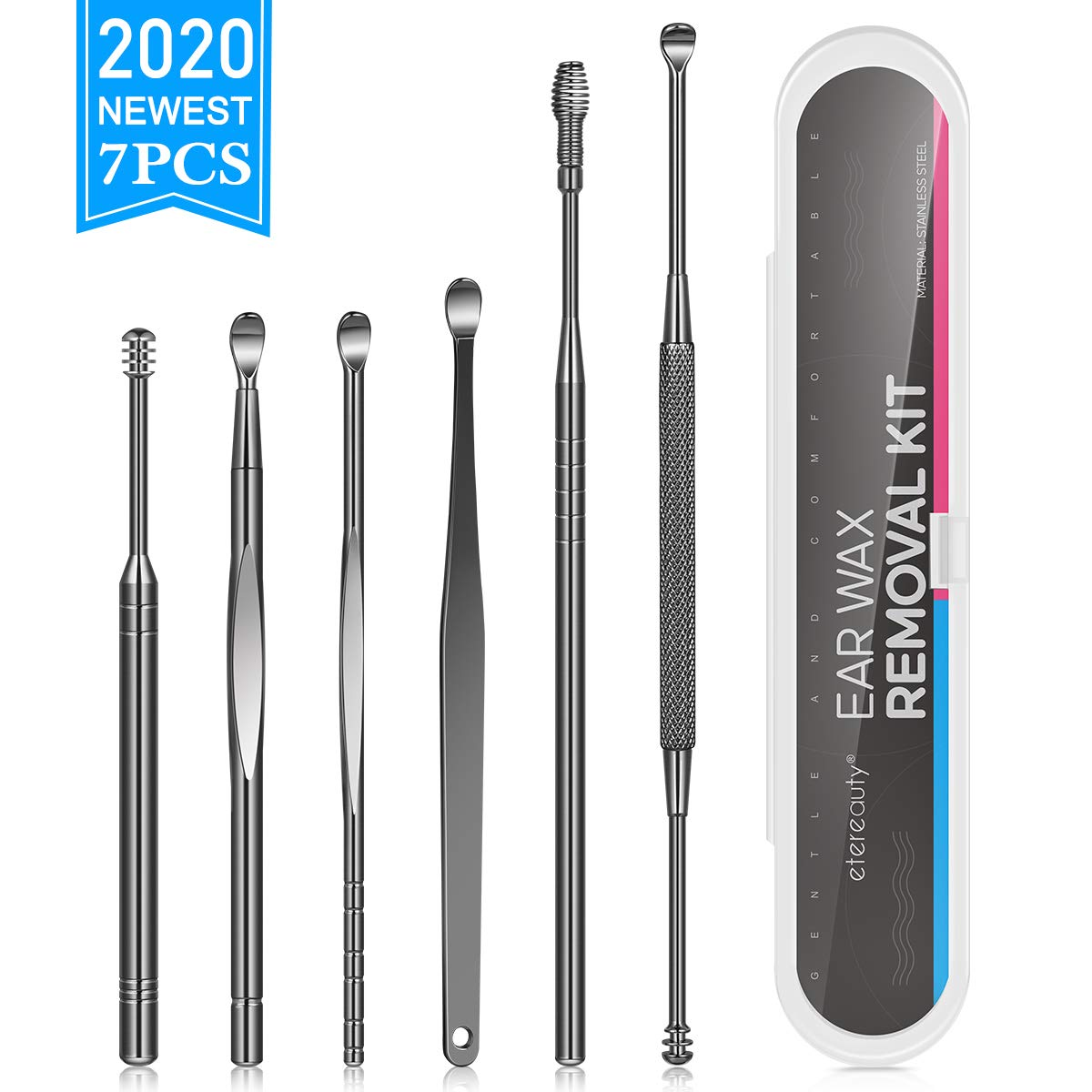 8-in-1 Ear Pick Tools Curette Cleaner Reusable Ear Cleaner Ear Wax Removal Kit