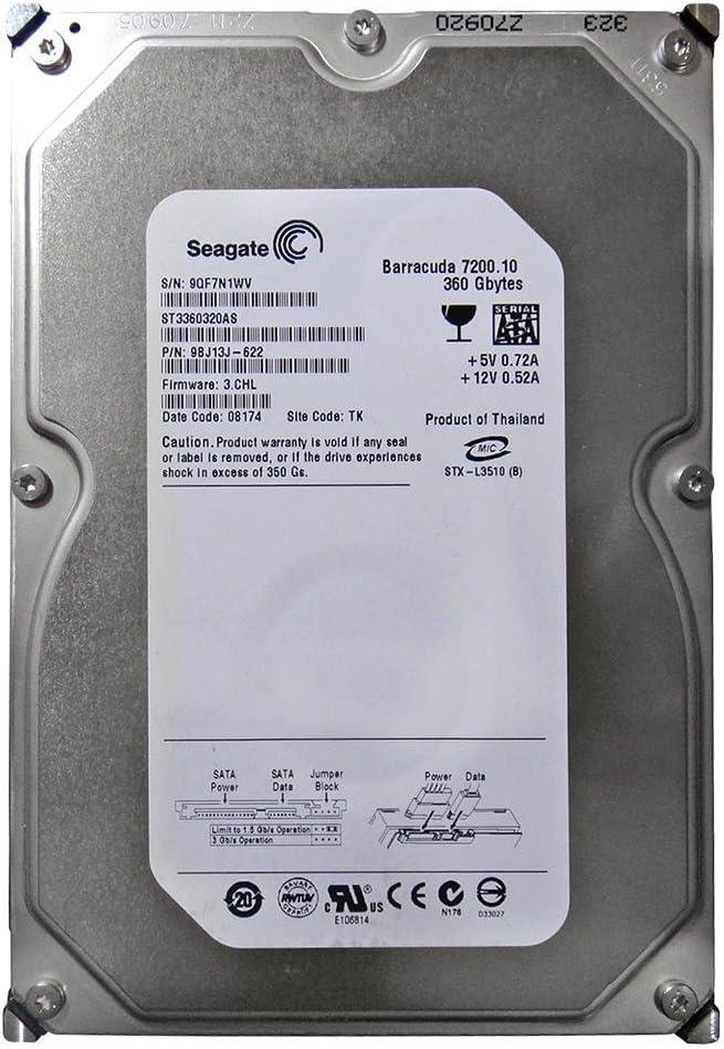 Renewed Seagate ST3500630AS 500GB SATA//300 7200RPM 16MB Hard Drive